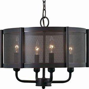 Xena Collection 4-Light Euro Bronze Indoor Light